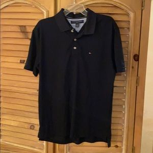 New w/O tags men's black Tommy Hilfiger golf shirt